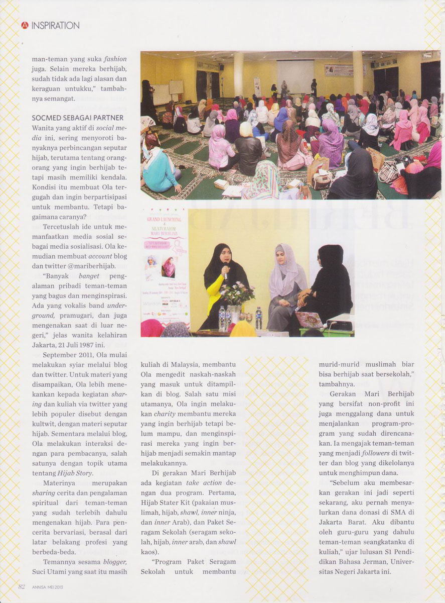img3 Media Exposure: Annisa Magazine - May 2013
