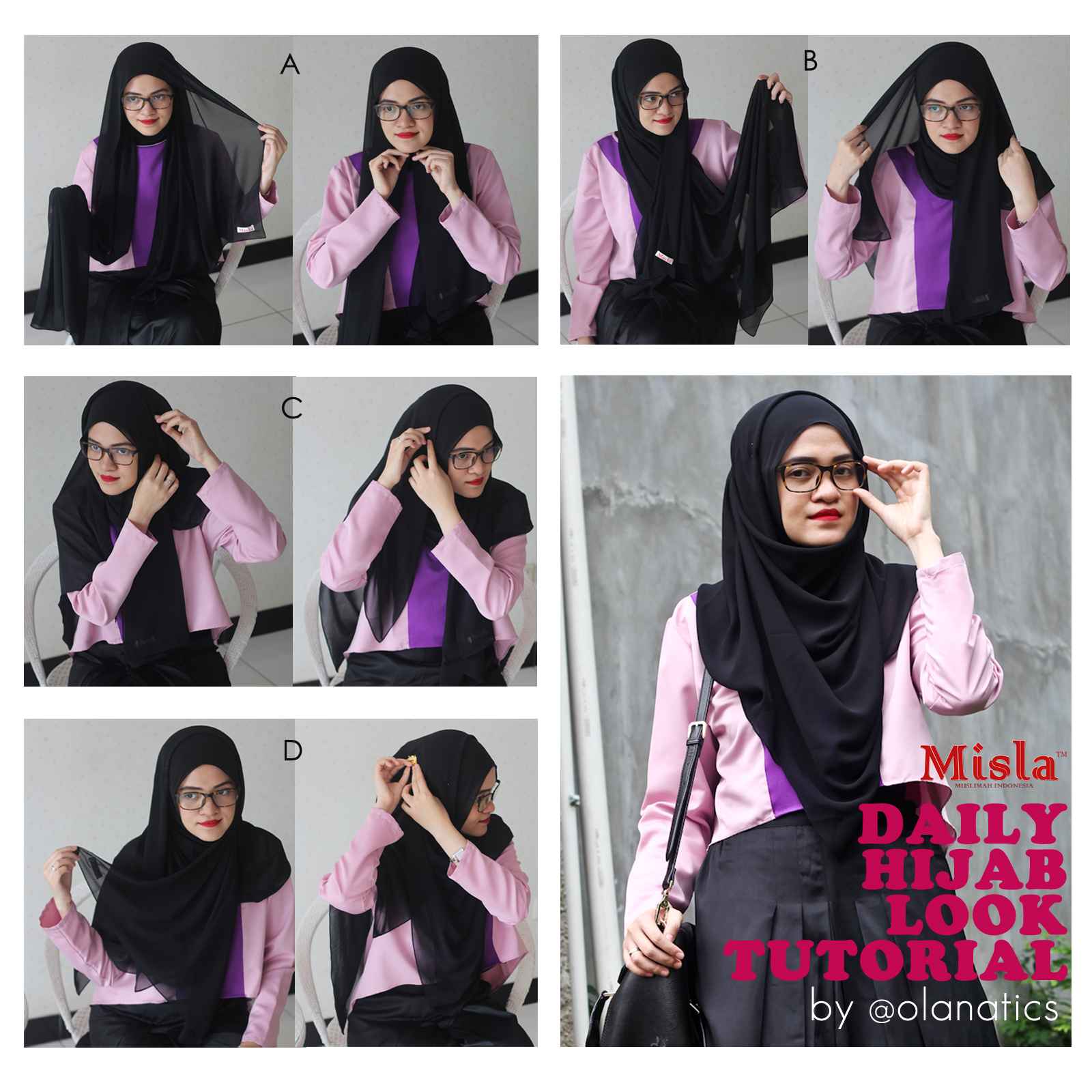 black-shawl-tutorial Tutorial: Daily Hijab Look