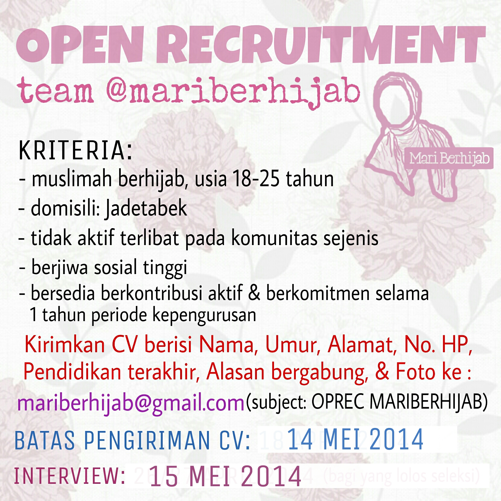 oprecmb-new Urgent: @mariberhijab Open Recruitment!