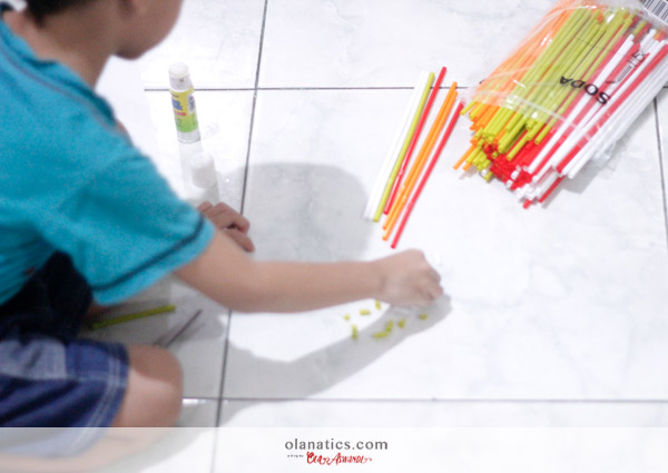 b-DIY-Kal-7 Kal's Sensory Play: Cut & Glue The Straws