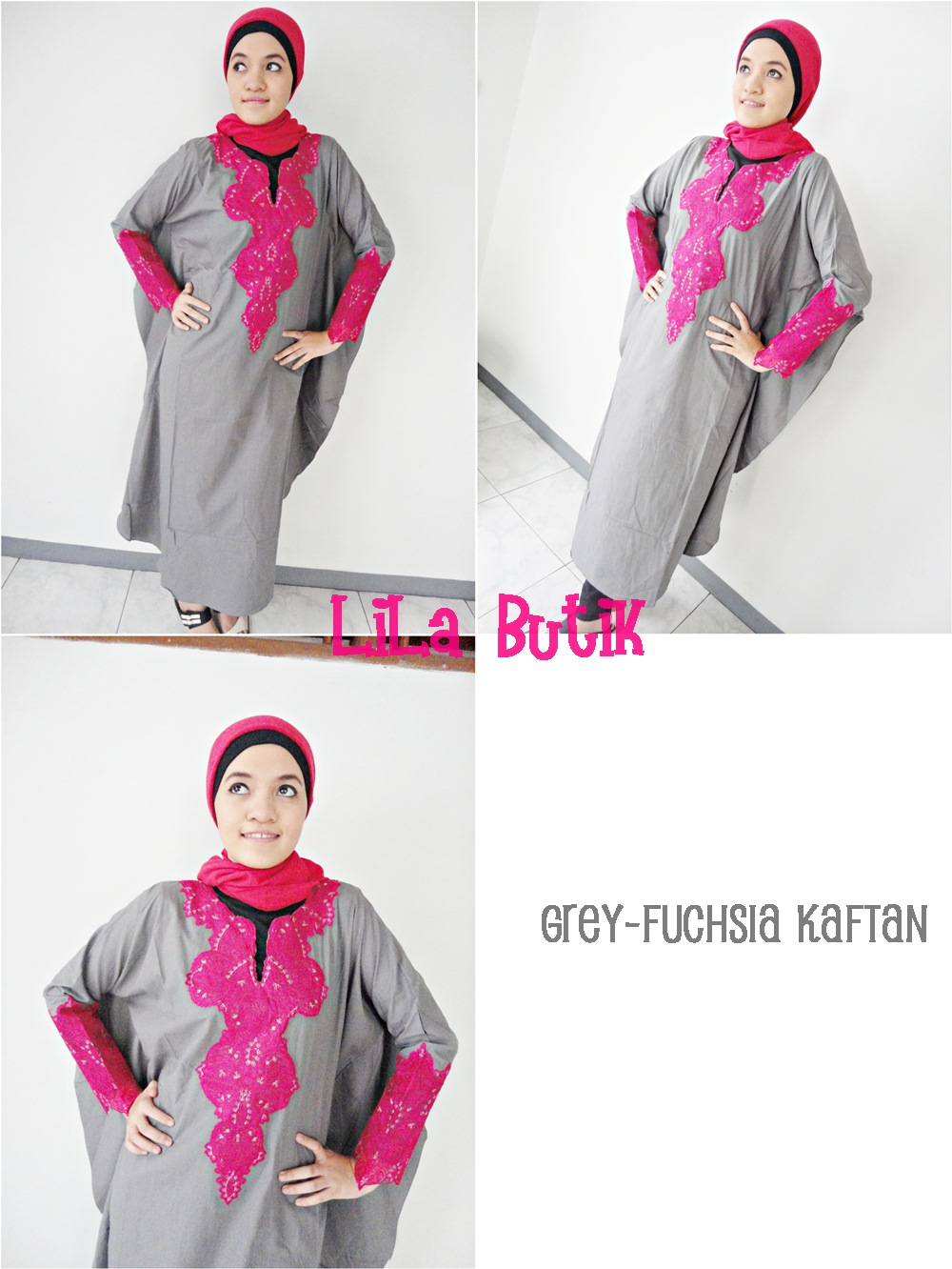 grey-kaftan LiLa Butik: Me and My Friend's On-and-Off Online Shop (^____^)v