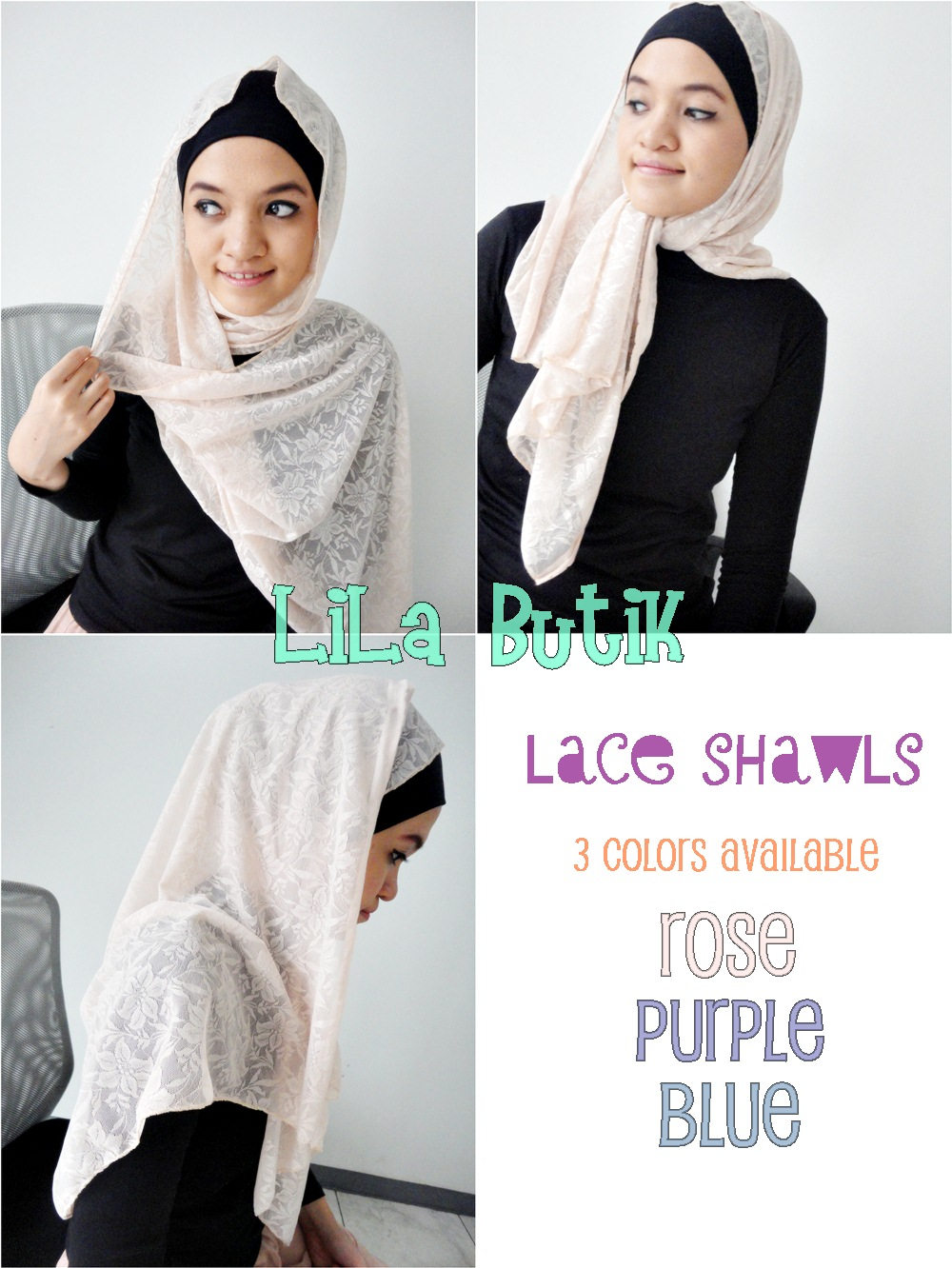 lace-shawls LiLa Butik: Me and My Friend's On-and-Off Online Shop (^____^)v