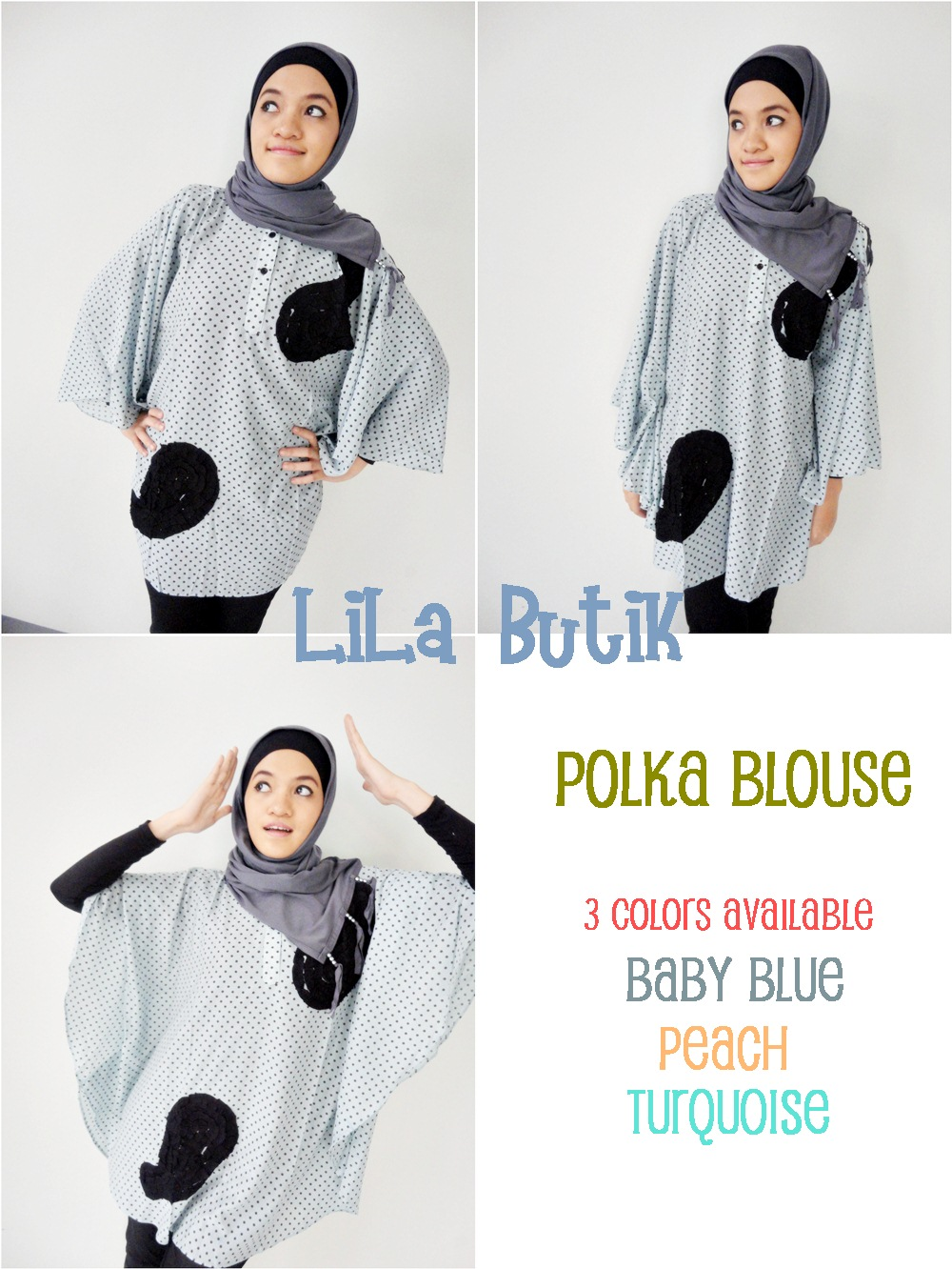 polka-blouse LiLa Butik: Me and My Friend's On-and-Off Online Shop (^____^)v