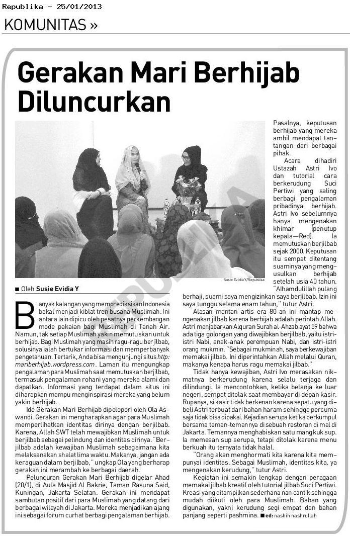 mariberhijab Media Exposure: Mari Berhijab on Republika